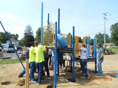 community build playground photos