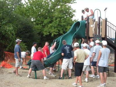 photo of community build playgrounds