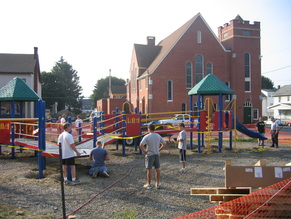 community build playground build day
