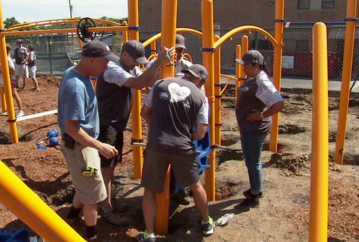 school community build playgrounds